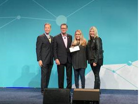 HAAM representatives accepting their check from PCMA leaders on Tuesday January 10th, 2017 during the Convening Leadership Conference in Austin, Texas