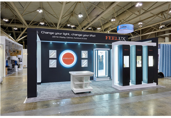 Feelux Canada's booth at IIDEX 2016