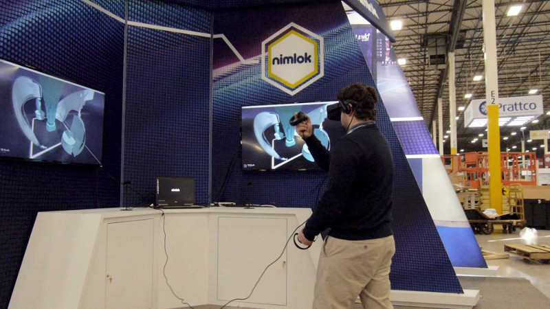 Nimlok to use virtual reality technology at booth #1333 at EXHIBITORLIVE.