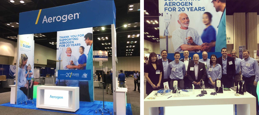 "Nimlok Chicago's client, Aerogen, received the ""Best of Show"" award for exhibits 200 sq. ft. and under at the 2017 International Respiratory Congress."
