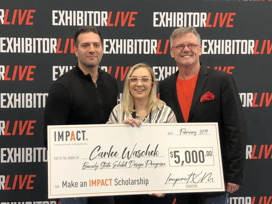 Impact XM Names Carlee Waschek as 'Make an Impact Scholarship' Recipient at EXHIBITORLIVE